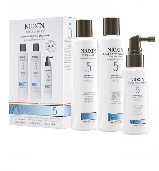Maxi set impotriva caderii parului Nioxin System 5, 300+300+100ml 1