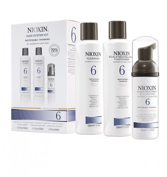 Set impotriva caderii parului Nioxin System 6, 150+150+40ml 1