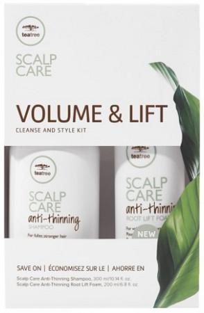 Set pentru par cu fir subtire/fara volum Paul Mitchell Tea Tree Volume & Lift, 300 ml + 200 ml 0