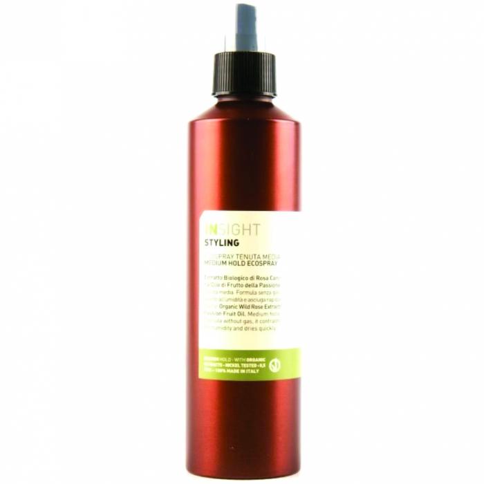 Spray cu fixare puternica cu extract de piersica Insight Ecospray, 250 ml [0]