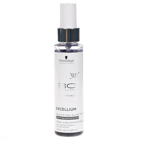 Spray tratament pentru par grizonat Schwarzkopf Bonacure Excellium Beautifying Silver Spray, 100 ml 0