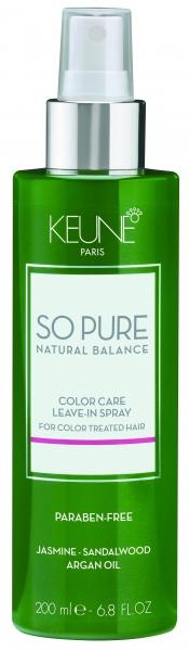 Tratament fara clatire pentru ingrijirea parului colorat  Keune So Pure Color Care, 200ml 0