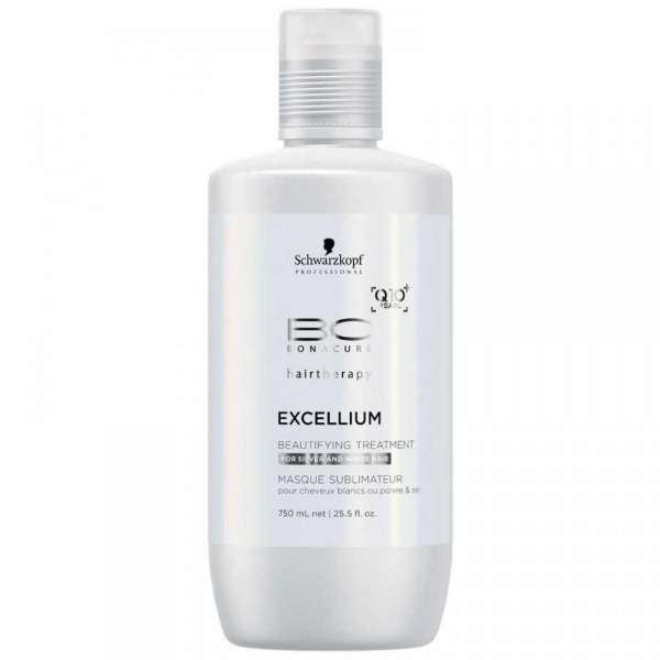 Tratament pentru par grizonat si alb Schwarzkopf Bonacure Excellium Beautifying Treatment, 750 ml 0