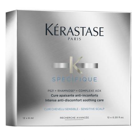 Tratament pentru scalp iritat Kerastase Specifique Cure Apaisante, 12 x 6 ml 0