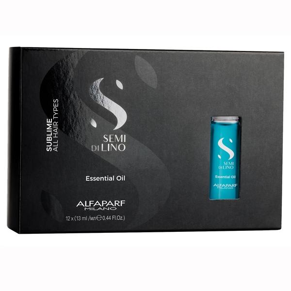 Ulei esential pentru stralucire Alfaparf Semi di Lino Sublime Essential Oil, 12X13 ml 0