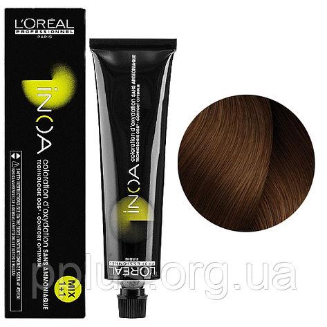 Vopsea de par permanenta fara amoniac L`Oreal Professionnel Inoa 6.24, Cupru Irizat Blond Inchis, 60 ml [0]