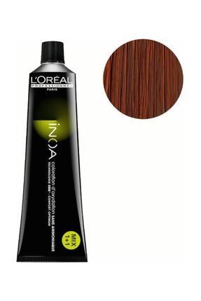 Vopsea de par permanenta fara amoniac L`Oreal Professionnel Inoa 6.34, Blond Cupru Auriu Inchis , 60 ml [0]