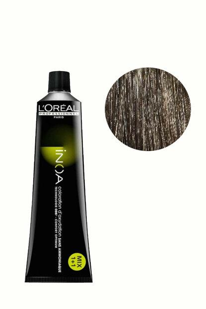 Vopsea de par permanenta fara amoniac L`Oreal Professionnel Inoa 6, Blond Inchis, 60 ml [0]