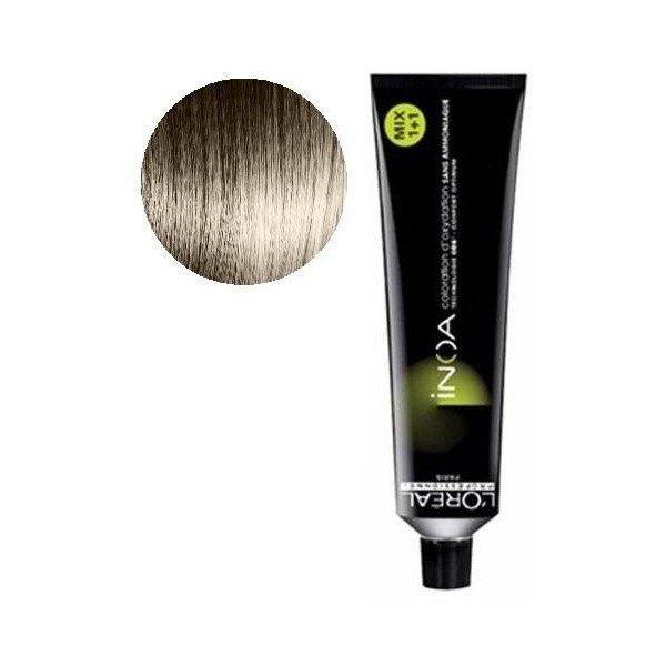 Vopsea de par permanenta fara amoniac L`Oreal Professionnel Inoa 7.18, Blond Cenusiu Moka, 60 ml [0]