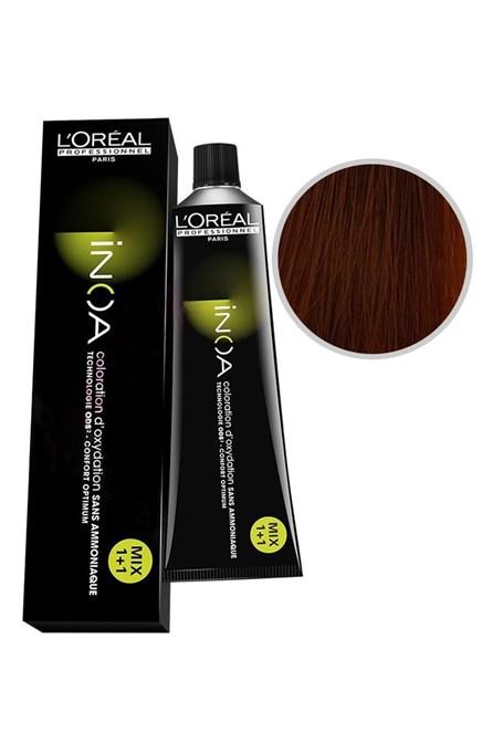 Vopsea de par permanenta fara amoniac L`Oreal Professionnel Inoa 7.34, Blond Cupru Auriu, 60 ml [0]