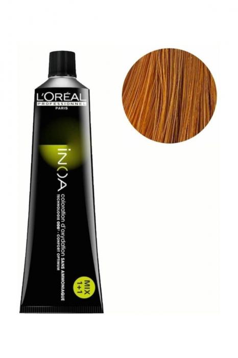 Vopsea de par permanenta fara amoniac L`Oreal Professionnel Inoa 8.3, Blond Auriu Deschis, 60 ml 0