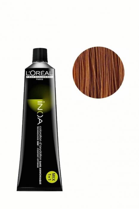 Vopsea de par permanenta fara amoniac L`Oreal Professionnel Inoa 8, Blond deschis, 60 ml 0