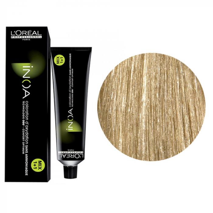 Vopsea de par permanenta fara amoniac L`Oreal Professionnel Inoa 9, Blond Foarte Deschis, 60 ml [0]