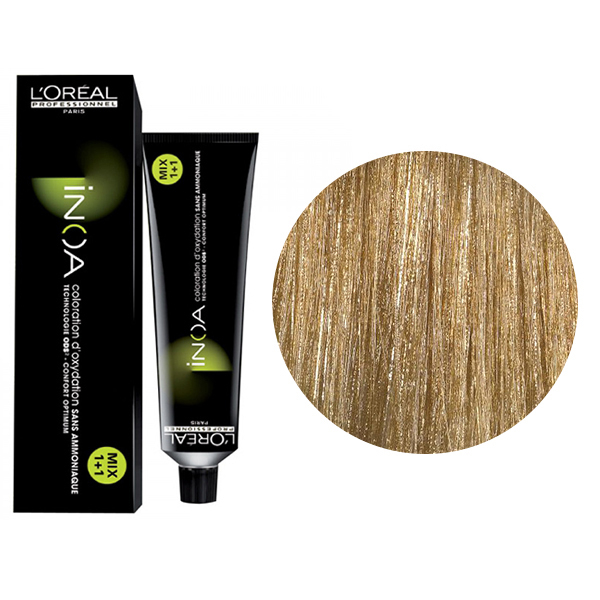 Vopsea de par permanenta fara amoniac L`Oreal Professionnel Inoa Blond Resist 9.3, Blond Iridescent Foarte Deschis, 60 ml 0