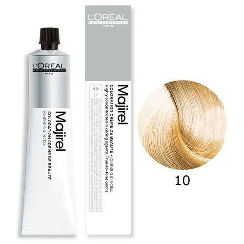 Vopsea de par permanenta L`Oreal Professionnel Majirel 10, Blond deschis stralucitor, 50 ml 0