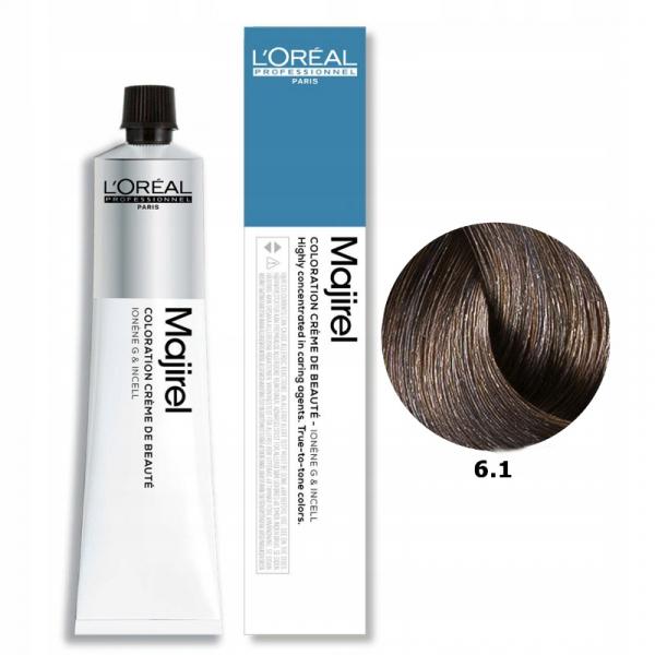 Vopsea de par permanenta L`Oreal Professionnel Majirel 6.1, Blond inchis cenusiu, 50 ml [0]
