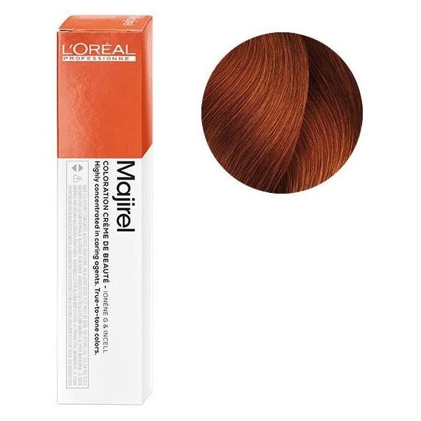 Vopsea de par permanenta L`Oreal Professionnel Majirel 6.46, Blond inchis aramiu rosu, 50 ml [0]