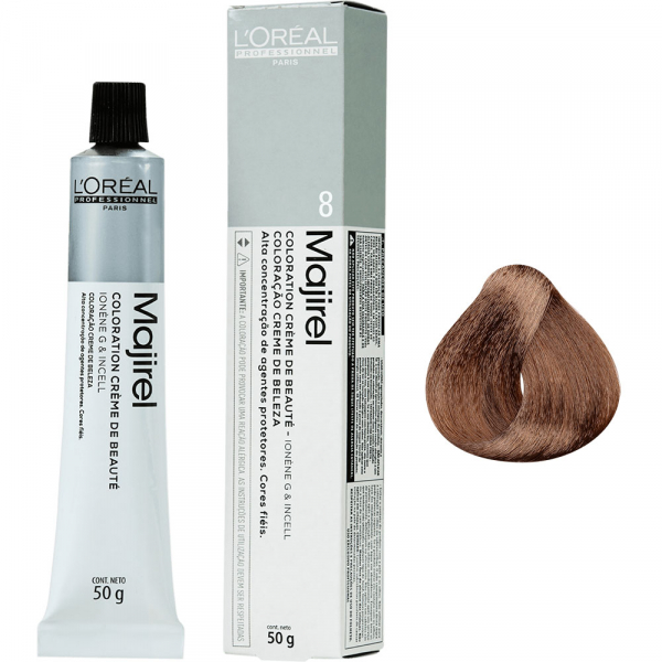 Vopsea de par permanenta L`Oreal Professionnel Majirel 8, Blond deschis, 50 ml 0