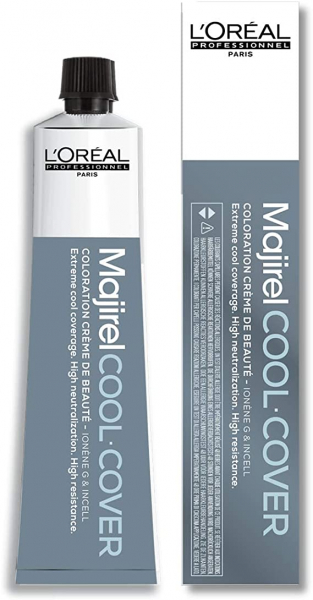 Vopsea de par permanenta L`Oreal Professionnel Majirel Cool Cover 7.18, Mocha, 50 ml 0
