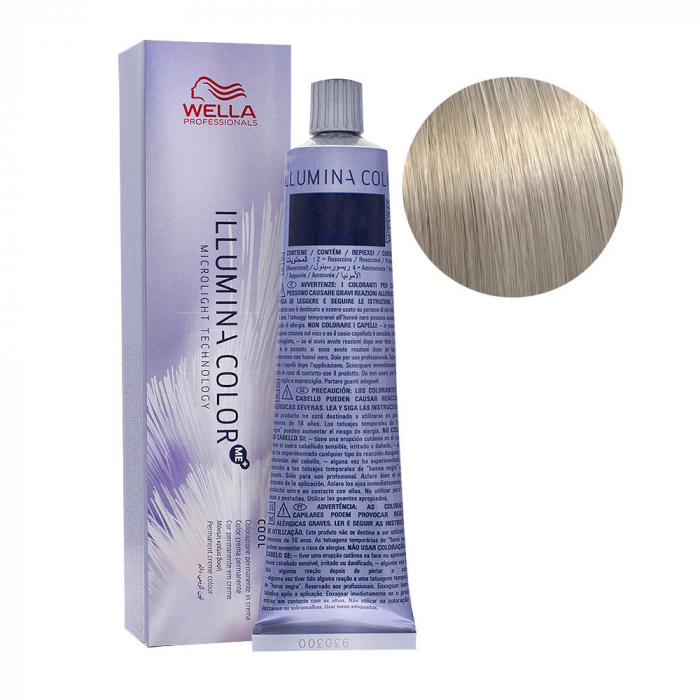 Vopsea de par permanenta Wella Professionals Illumina Color 10/81, 60 ml 0