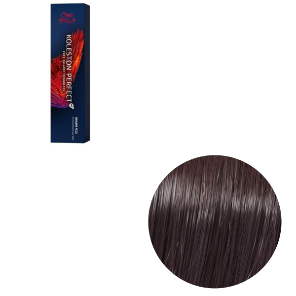 Vopsea de par permanenta Wella Professionals Koleston Perfect Me+ 44/65 , Castaniu Mediu Intens Violet Mahon , 60 ml 0