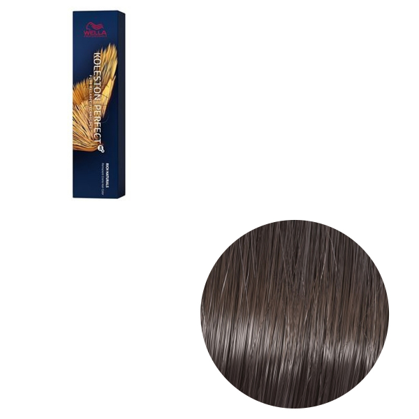 Vopsea de par permanenta Wella Professionals Koleston Perfect Me+ 5/2 , Castaniu Deschis Mat, 60 ml 0