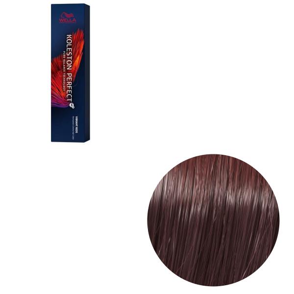 Vopsea de par permanenta Wella Professionals Koleston Perfect Me+ 55/46 , Castaniu Deschis Intens Rosu Violet, 60 ml 0