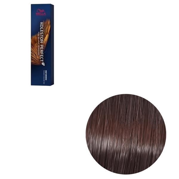 Vopsea de par permanenta Wella Professionals Koleston Perfect Me+ 6/75 , Blond Inchis Castaniu Mahon, 60 ml [0]