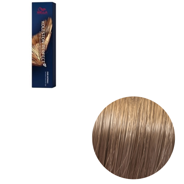 Vopsea de par permanenta Wella Professionals Koleston Perfect Me+ 8/03 , Blond Deschis Natural Auriu, 60 ml 0