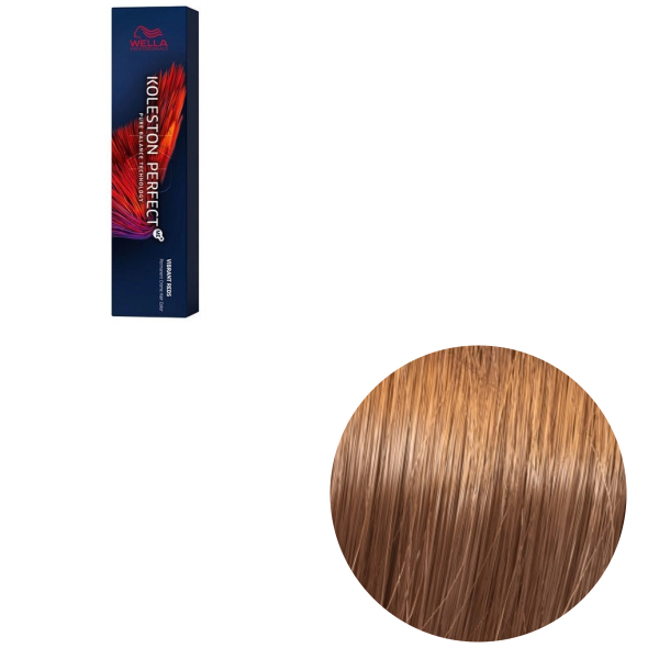 Vopsea de par permanenta Wella Professionals Koleston Perfect Me+ 8/43 , Blond Deschis Rosu Auriu, 60 ml 0
