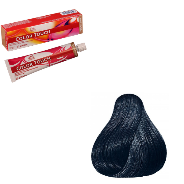 Vopsea de par semi-permanenta Wella Professionals Color Touch 2/8, Negru Albastrui, 60 ml 0