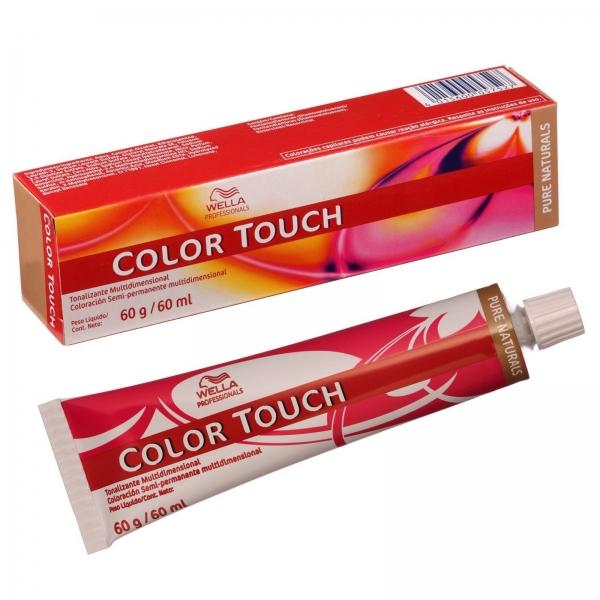 Vopsea de par semi-permanenta Wella Professionals Color Touch 4/0, Castaniu Mediu, 60 ml 1