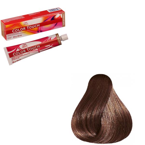 Vopsea de par semi-permanenta Wella Professionals Color Touch 6/73, Blond Inchis Castaniu Auriu, 60 ml 0