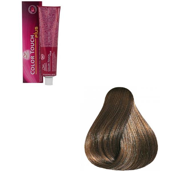 Vopsea de par semi-permanenta Wella Professionals Color Touch Plus 66/07, Blond Inchis Intens Natural Castaniu, 60 ml [0]