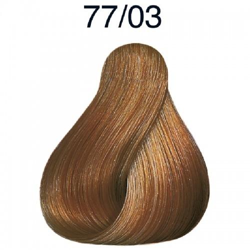 Vopsea de par semi-permanenta Wella Professionals Color Touch Plus 77/03, Blond Mediu Intens Natural Auriu, 60 ml [0]