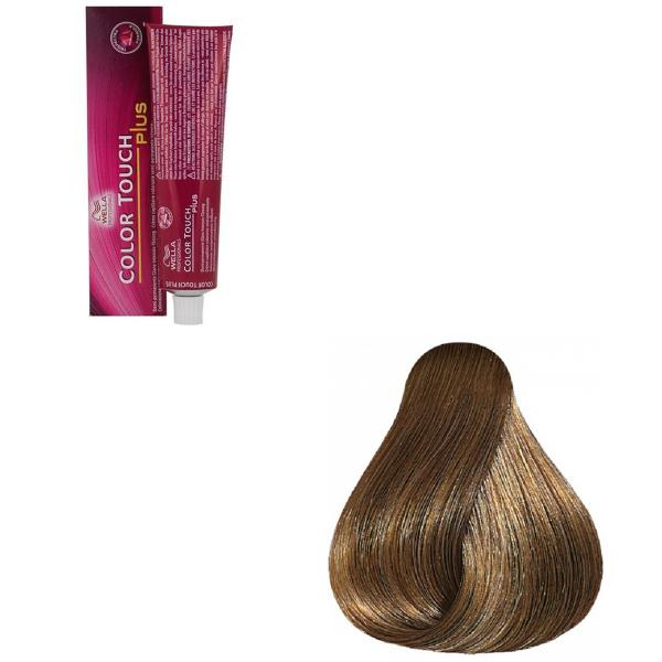 Vopsea de par semi-permanenta Wella Professionals Color Touch Plus 77/07, Blond Mediu Intens Natural Castaniu, 60 ml 0