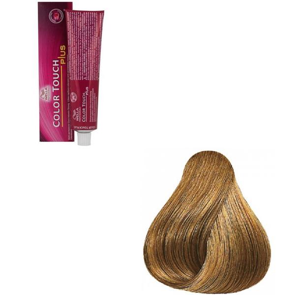 Vopsea de par semi-permanenta Wella Professionals Color Touch Plus 88/07, Blond Deschis Intens Natural Castaniu, 60 ml [0]
