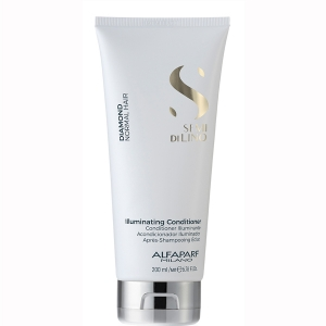 Balsam pentru stralucire fara sulfati Alfaparf Semi di Lino Diamond Illuminating Conditioner, 200 ml0