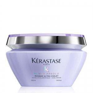 Masca pentru neutralizarea tonurilor de galben Kerastase Blond Absolu Masque Ultra-Violet, 200 ml