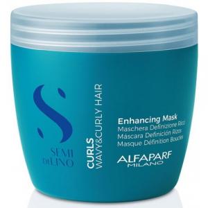 Masca pentru par cret sau ondulat Alfaparf Semi di Lino Curls Enhancing, 500 ml