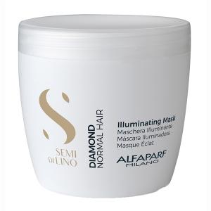 Masca pentru stralucire fara sulfati Alfaparf Semi di Lino Diamond Illuminating Mask, 500 ml0