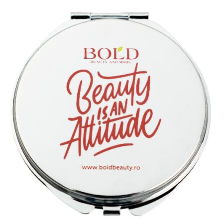 "Oglinda dubla personalizata Bold Beauty, ""Beauty is an Attitude"""