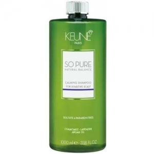Sampon cu efect calmant pentru scalp sensibil fara sulfati si parabeni Keune So Pure Calming, 1000ml