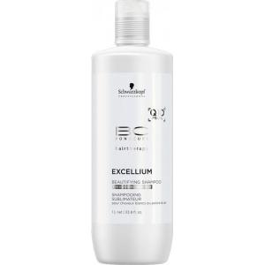 Sampon pentru par grizonat si alb Schwarzkopf Bonacure Excellium Beautifying Shampoo, 1000 ml0