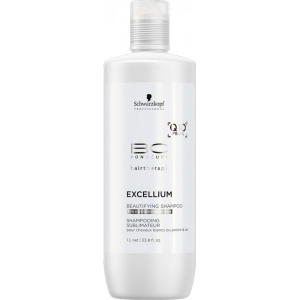 Sampon pentru par grizonat si alb Schwarzkopf Bonacure Excellium Beautifying Shampoo, 1000 ml1