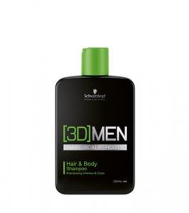 Sampon pentru par si corp Schwarzkopf 3D Hair & Body 250 ml0