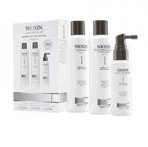 Maxi set impotriva caderii parului Nioxin System 1, 300+300+100ml0