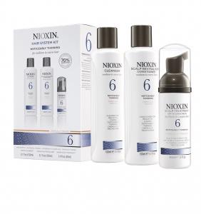 Set impotriva caderii parului Nioxin System 6, 150+150+40ml0