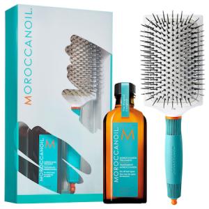 Set Promo Moroccanoil, Ulei Tratament pentru toate tipurile de par 100 ml + Perie Paddle