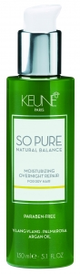 Tratament hidratant de noapte fara clatire pentru par deteriorat Keune So Pure Moisturizing, 150ml0